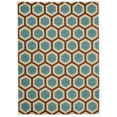 Nova Blue Area Rug Rug Size: Rectangle 311 x 53