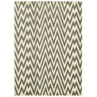 Grace Grey/White Area Rug Rug Size: 37 x 56