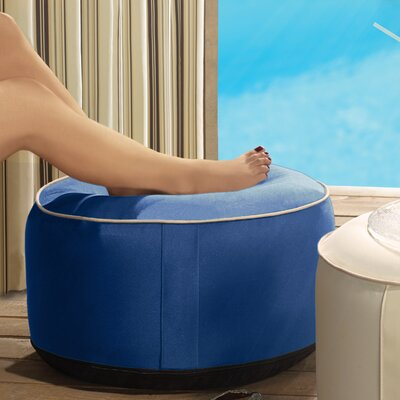 Rosalinda Inflatable Ottoman Upholstery: Blue