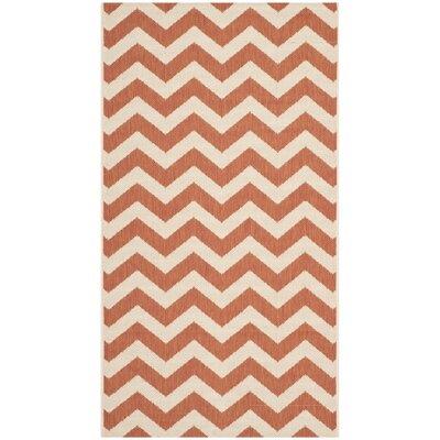 Mullen Terracotta/Beige Indoor/Outdoor Area Rug Rug Size: Rectangle 27 x 5