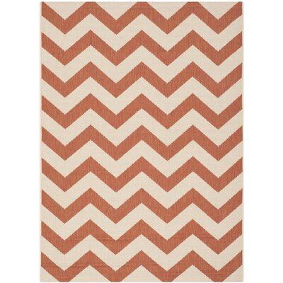 Mullen Terracotta/Beige Indoor/Outdoor Area Rug Rug Size: Rectangle 4 x 57