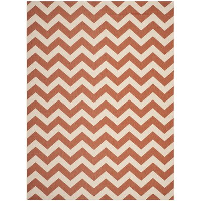 Estella Terracotta/Beige Indoor/Outdoor Area Rug Rug Size: 67 x 96