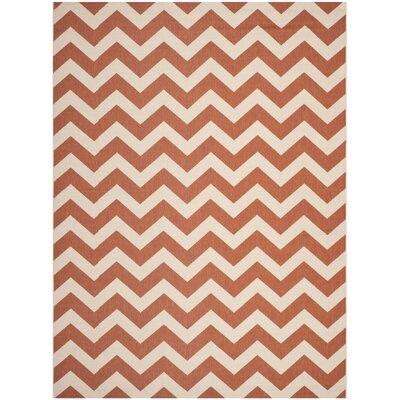 Mullen Terracotta/Beige Indoor/Outdoor Area Rug Rug Size: Rectangle 67 x 96