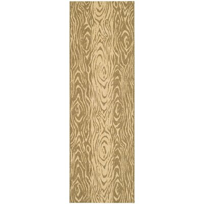 Coffee/Sand Area Rug Rug Size: Runner 27 x 82