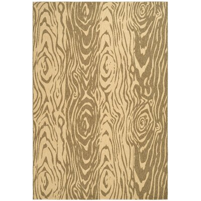 Coffee/Sand Area Rug Rug Size: 53 x 77