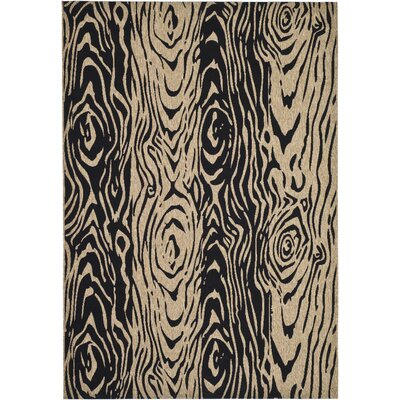 Coffee/Black Area Rug Rug Size: Rectangle 4 x 57