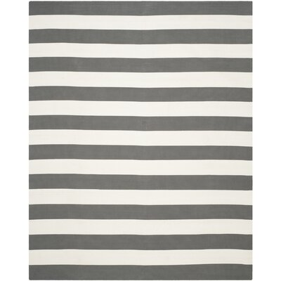 Skyler Hand-Woven Grey / Ivory Area Rug Rug Size: 10 x 14