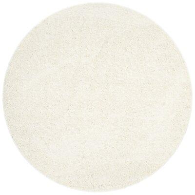 Kourtney White Area Rug Rug Size: Round 67 x 67