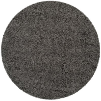 Kourtney Dark Grey Area Rug Rug Size: Round 67 x 67