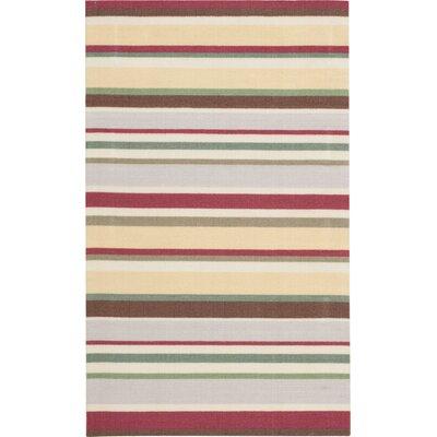 Katherine Gray/Red Indoor/Outdoor Area Rug Rug Size: 3' x 5'
