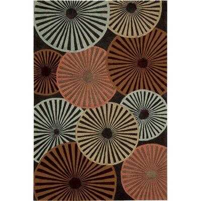 Desousa Black/Brown/Blue Outdoor Area Rug Rug Size: 19 x 29