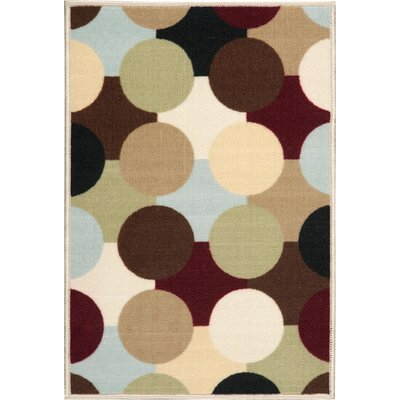 Deonna Beige/Black Area Rug Rug Size: Rectangle 5 x 7