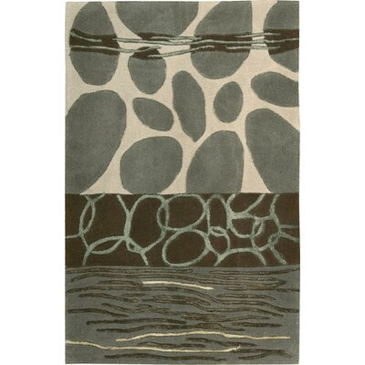 Nevada Hand-Tufted Wool Green/Blue Area Rug Rug Size: 2 x 3