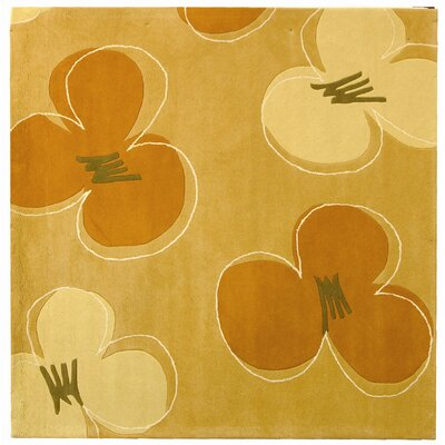 Freda Hand-Tufted Gold / Assorted Area Rug Rug Size: Square 8