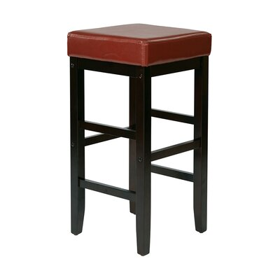 Kathryn 30 Bar Stool Upholstery: Crimson Red