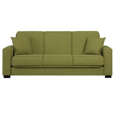 Kaylee Convertible Sofa Upholstery: Green