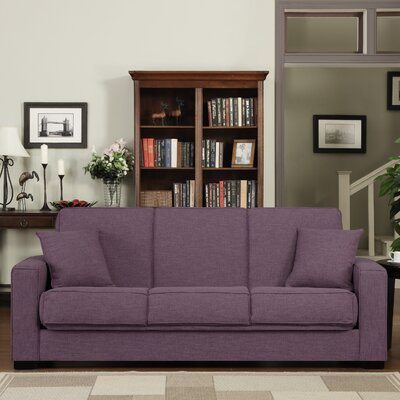 Kaylee Convertible Sofa Upholstery: Purple