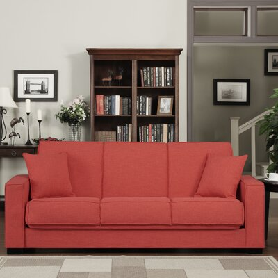 Kaylee Convertible Sofa Upholstery: Red