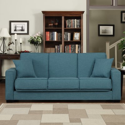 Kaylee Convertible Sofa Upholstery: Blue