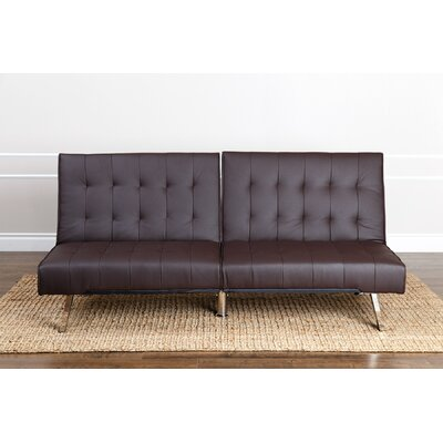 ZIPC2276 27052558 ZIPC2276 Zipcode™ Design Chloe Foldable Futon Leather Convertible Sofa
