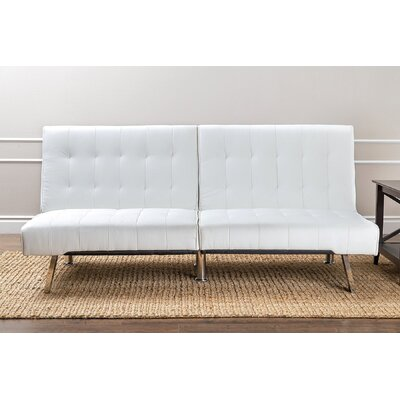 Elinor  Foldable Sleeper Sofa Upholstery: White