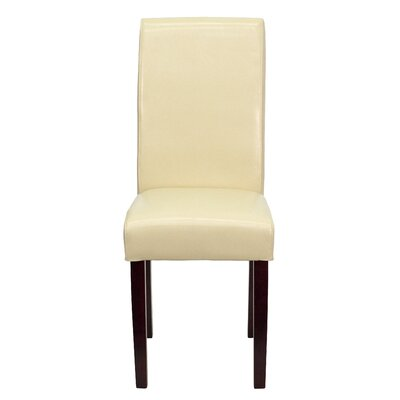 Gabriella Parsons Chair (Set of 2) Upholstery: Ivory