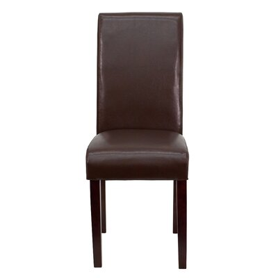 Gabriella Parsons Chair (Set of 2) Upholstery: Brown