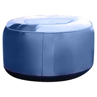 Rosalinda Ottoman Upholstery: Blue