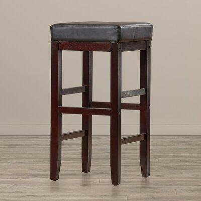 Kathryn 30 Bar Stool Upholstery: Black