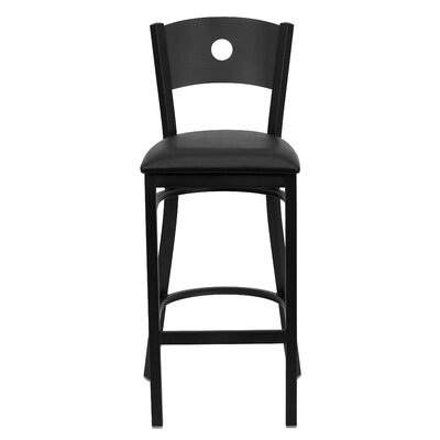 Hera 31 Bar Stool Upholstery: Black Vinyl