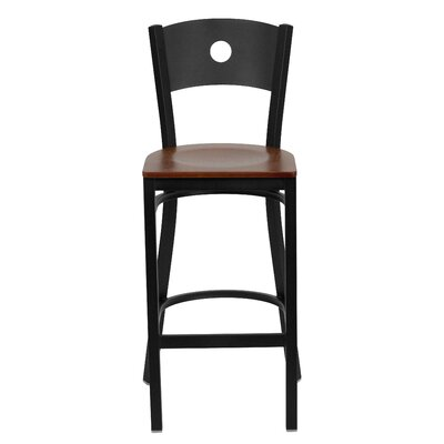 Hera 31 Bar Stool Upholstery: Cherry Wood