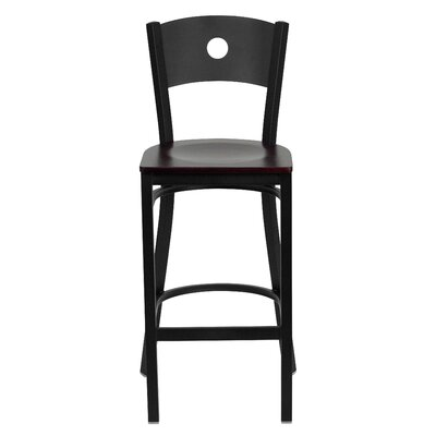 Hera 31 Bar Stool Upholstery: Mahogany Wood