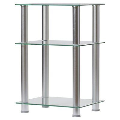 Ellie 20-35 TV Stand Color: White, Width of TV Stand: 29.5 H x 20 W x 16 D