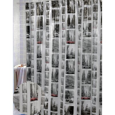 Maura Vinyl New York Shower Curtain