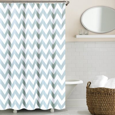 Alexys Shower Curtain Color: Silver Blue