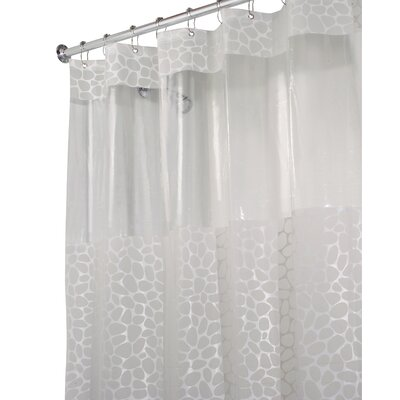 Jazmin Shower Curtain Color: Frosted White, Size: 72 H x 72 W x 0.93 D