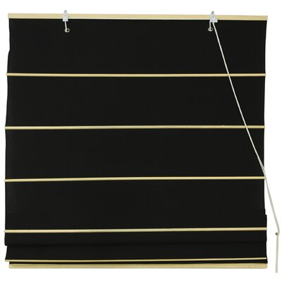 Cotton Roman Shades Blinds Size: 48 W x 72 L, Color: Black
