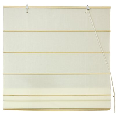Cotton Roman Shades Blinds Size: 24 W x 72 L, Color: Cream