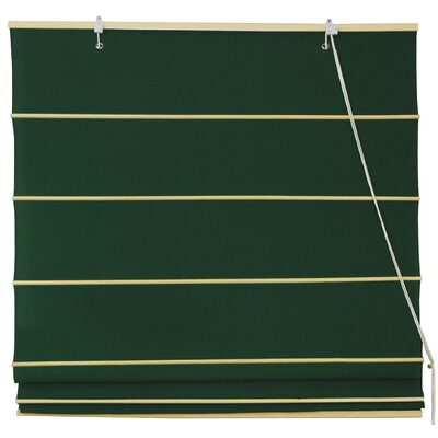 Cotton Roman Shades Blinds Size: 36 W x 72 L, Color: Dark Green