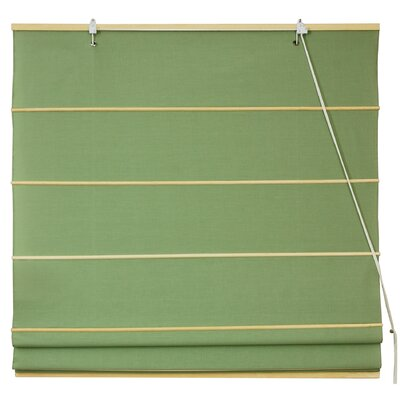 Cotton Roman Shades Blinds Size: 24 W x 72 L, Color: Light Green