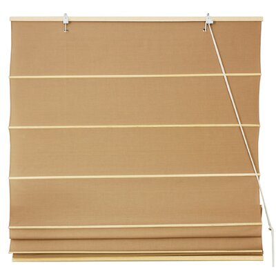 Cotton Roman Shades Blinds Size: 24 W x 72 L, Color: Light Brown