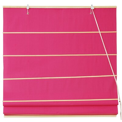 Cotton Roman Shades Blinds Size: 48 W x 72 L, Color: Pink