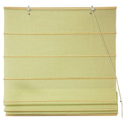 Cotton Roman Shades Blinds Size: 24 W x 72 L, Color: Yellow Cream