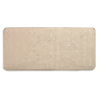 Dalia Waffle Weave Shower Mat Color: Ivory