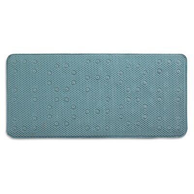 Dalia Waffle Weave Shower Mat Color: Teal