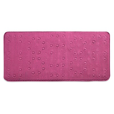 Dalia Waffle Weave Shower Mat Color: Raspberry