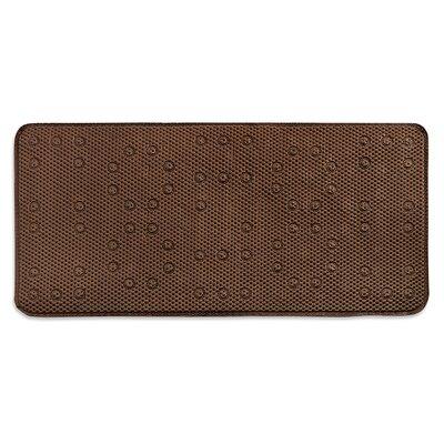 Dalia Waffle Weave Shower Mat Color: Chocolate