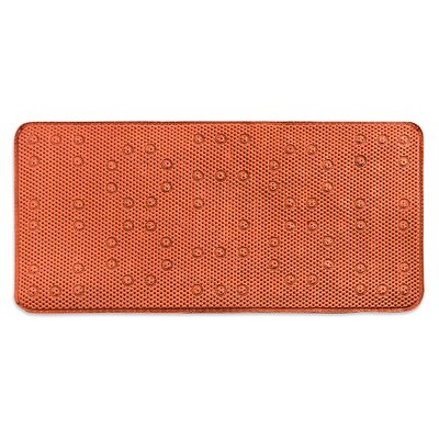 Dalia Waffle Weave Shower Mat Color: Orange