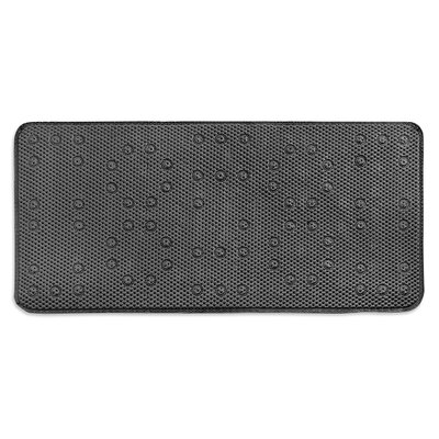 Dalia Waffle Weave Shower Mat Color: Silver