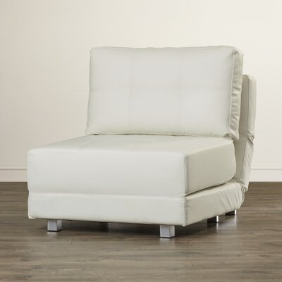 Krystal Convertible Chair Upholstery: White